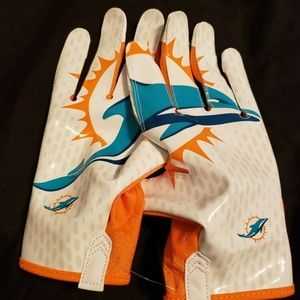 Nike Vapor Knit Miami Dolphins Gloves PGF397-171